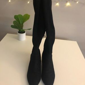 Express over the knee faux suede boots